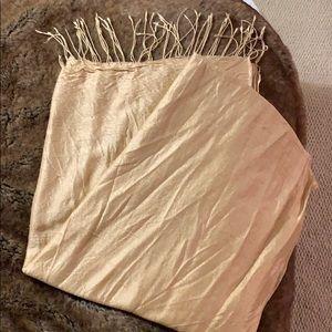 Gold silk wrap